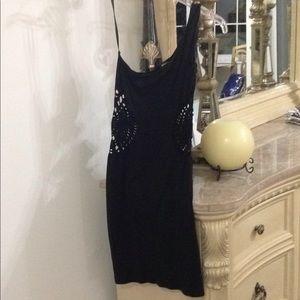 Bebe One shoulder cut out dress